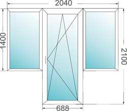 Окна - балкон-комплекс.