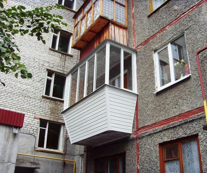 Вынос балкона (5 фото) - балкон-комплекс.
